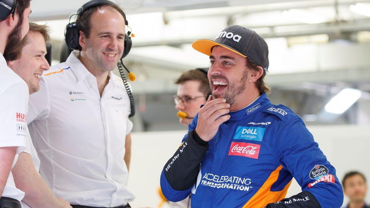 Fernando Alonso en el Gran Premio de Estados Unidos 2018