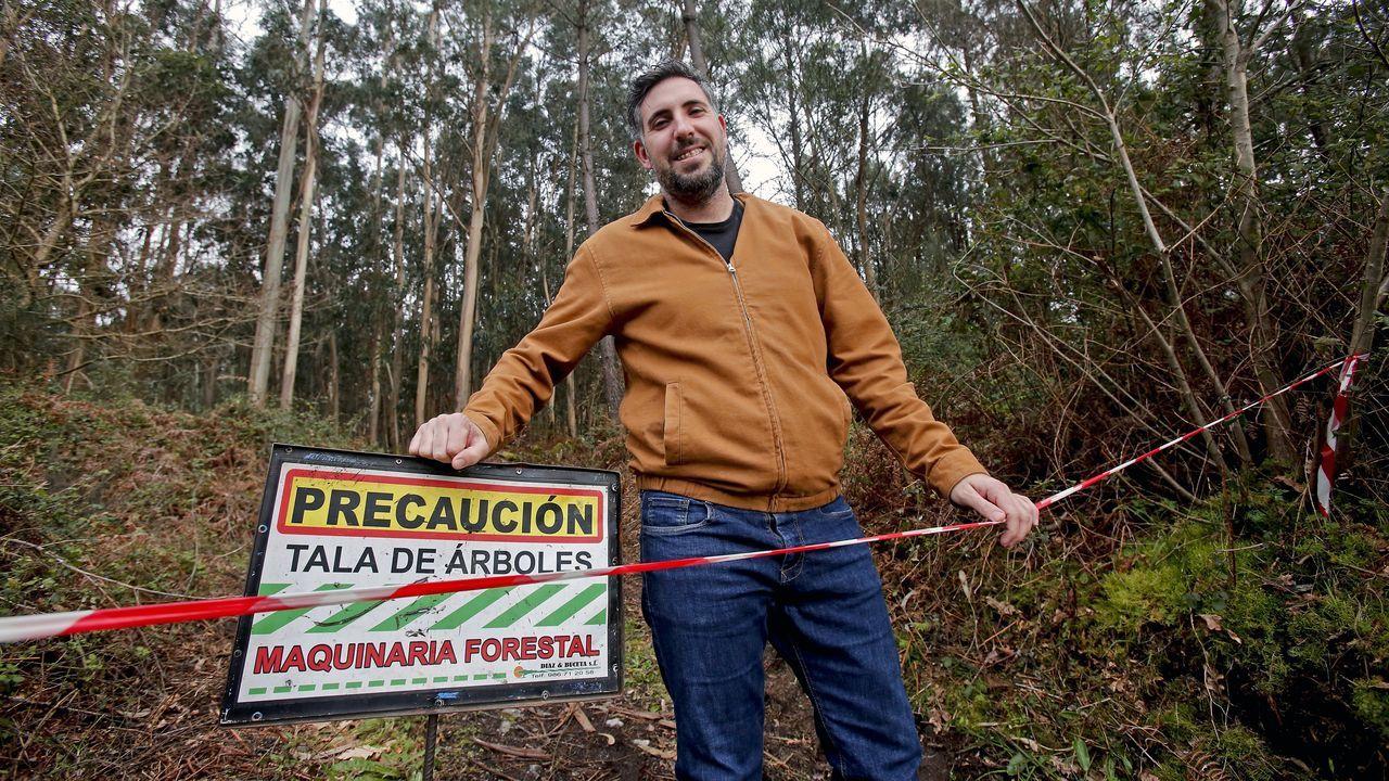 Iván Pérez, presidente da Mancomunidade de Montes de Pontevedra, en Lourizán