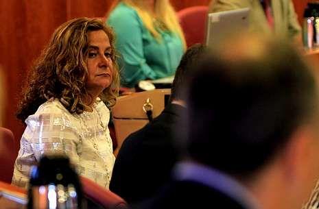 Grafico CIS XXL.Carmela Silva participó activamente en el pleno municipal celebrado el pasado lunes.