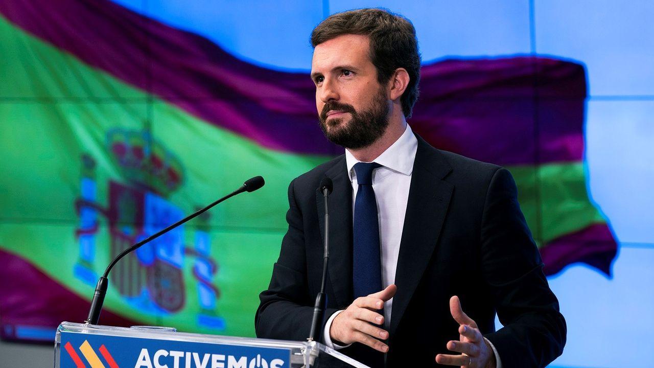 Pablo Casado, en el comité ejecutivo nacional del PP