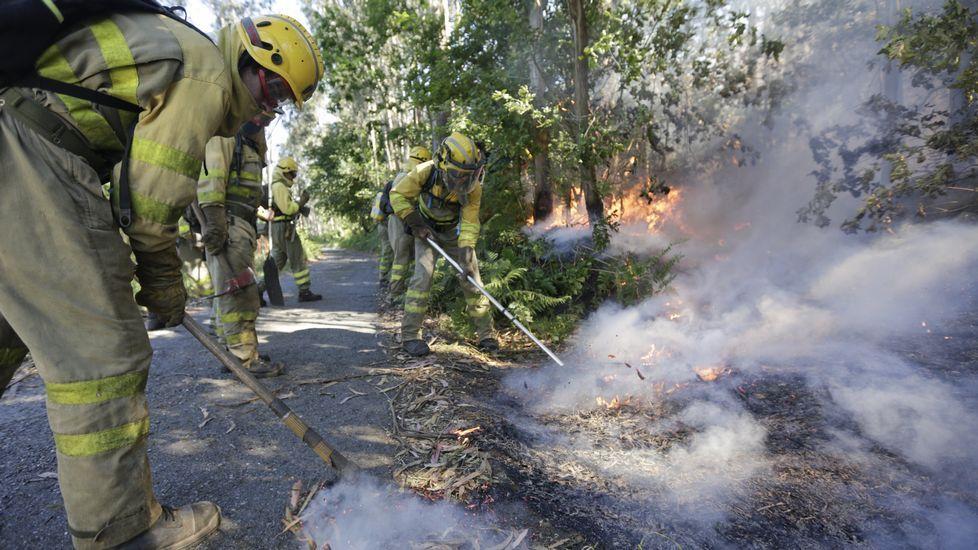 Incendios en Coirós y Aranga