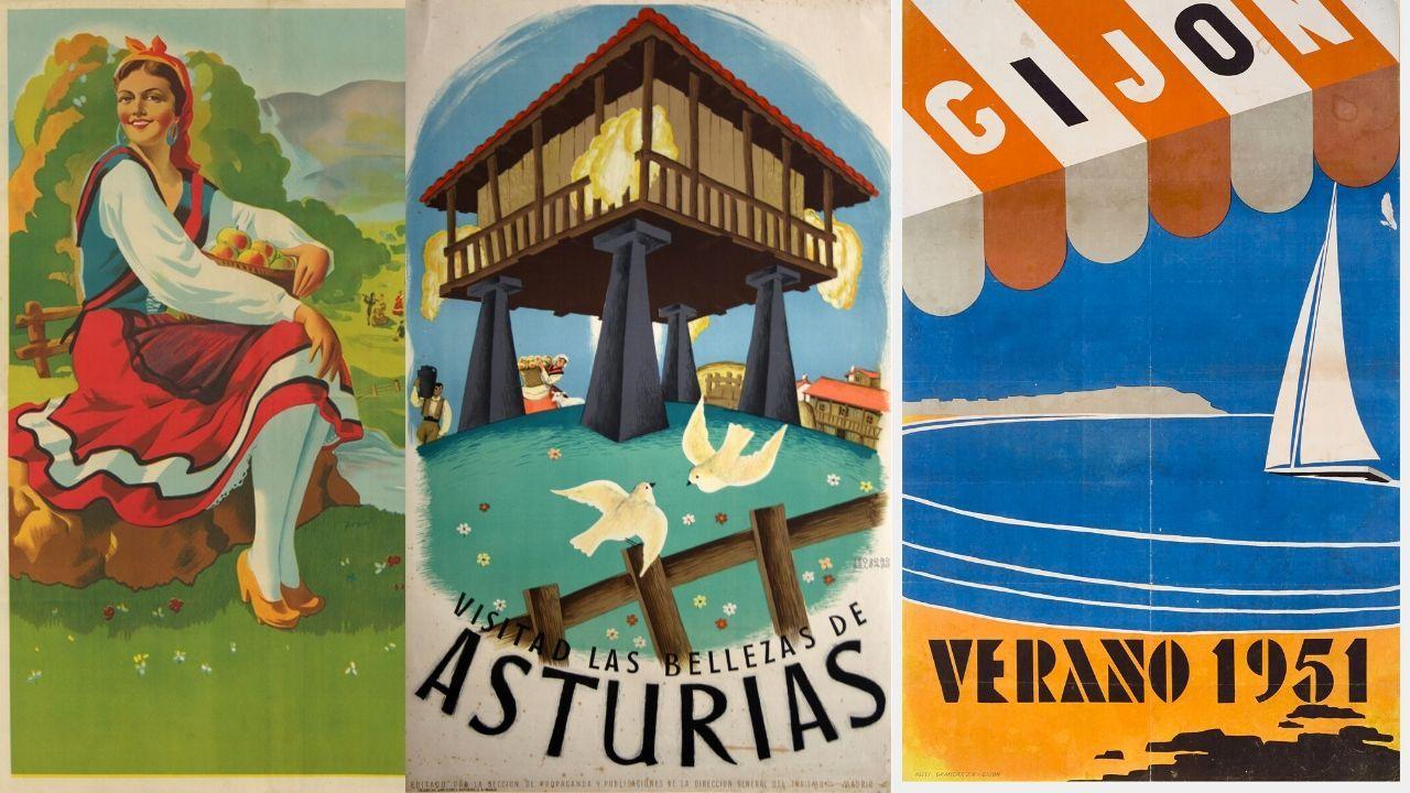 Recorrido por la cartelería turística de la Asturias del siglo pasado.Joel García, presidente de Confederación Asturiana de la Construcción?ASPROCON.