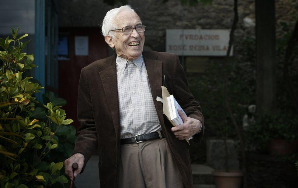 O seu sorriso acompañaba sempre ao escritor que facía gala do seu bo humor<span lang= es-es >. </span>
