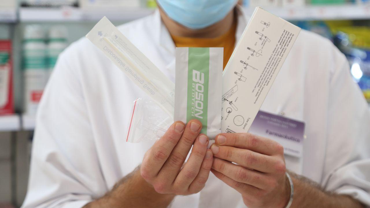 Test de antígenos que se comercializarán en las farmacias gallegas