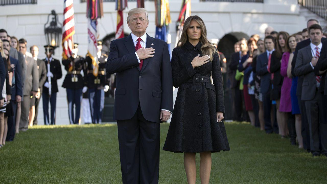 Melania Trump trabaja en la huerta de Michelle Obama.El príncipe Harry, junto a Melania Trump en Toronto