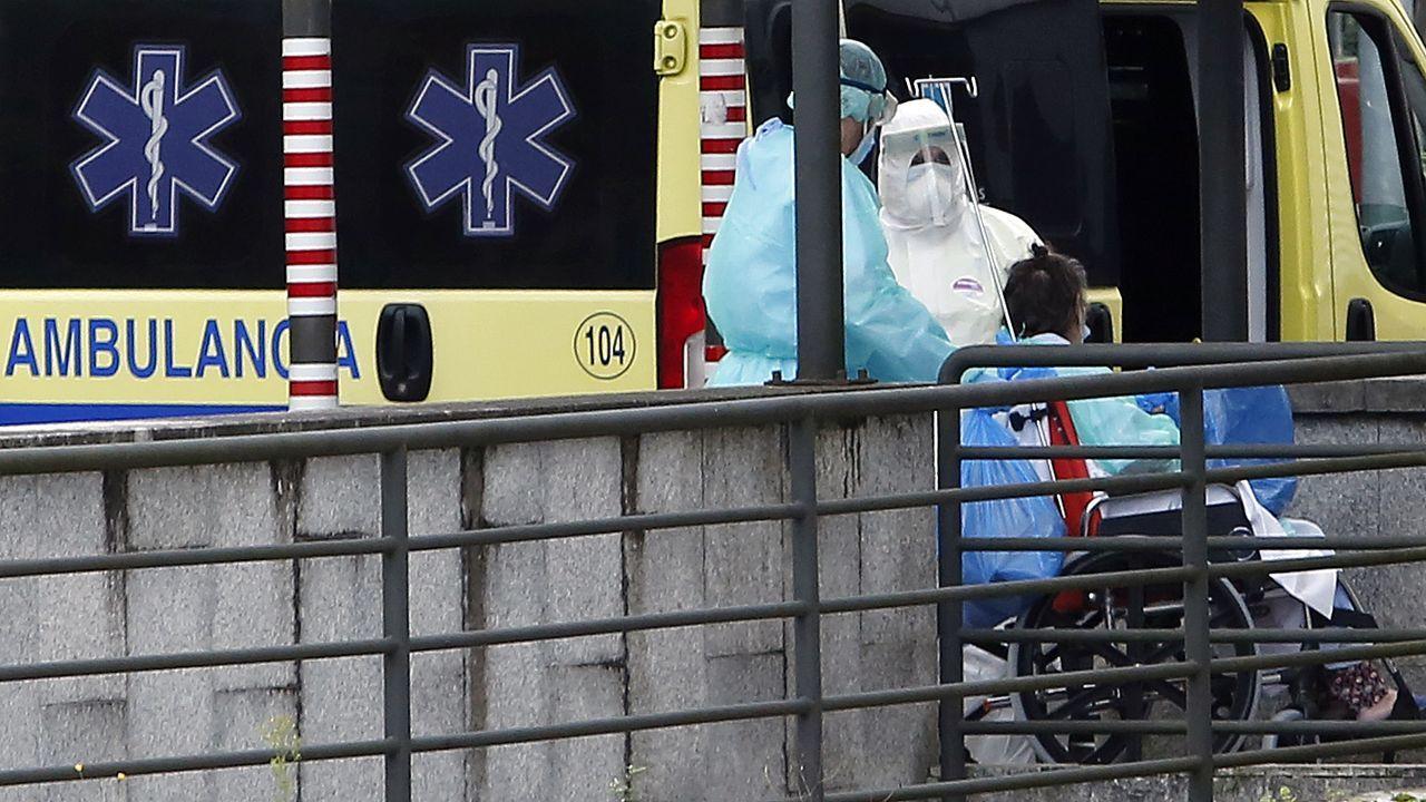 Área de urgencias del hospital Montecelo, en Pontevedra