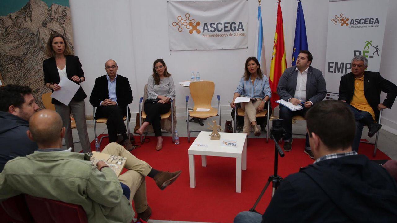 Estimación de voto en A Coruña.Debate en Ascega