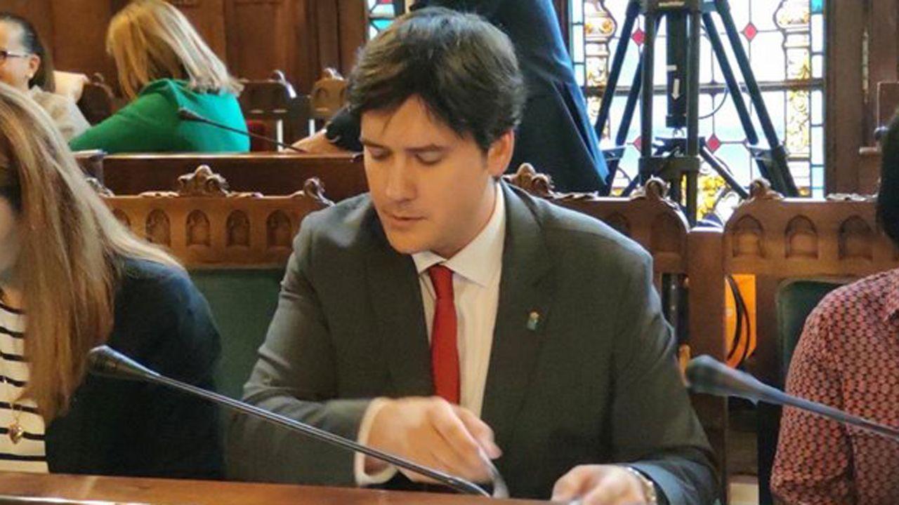 Borja Sánchez, en la Junta