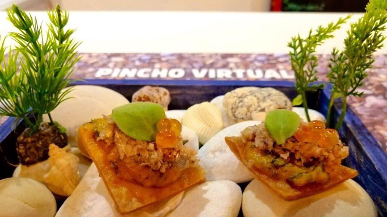 El «Pincho Virtual» que presenta el chef del establecimiento ovetense