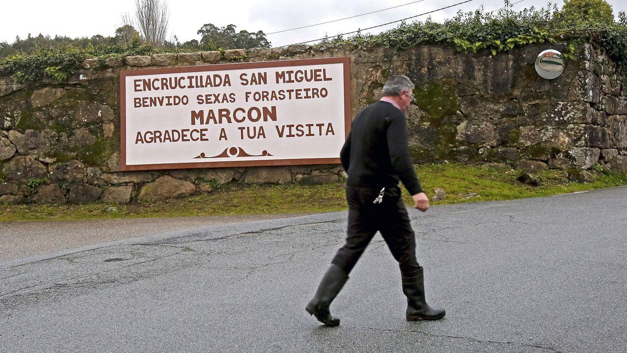 La plaza de la Leña, protagonista en la película.Daniel Chamosa se recupera de la segunda operación leyendo «A pulso»
