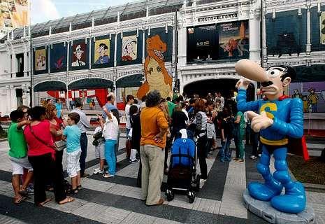 El estreno de Viñetas desde o Atlántico tuvo lugar en el Kiosco Alfonso.