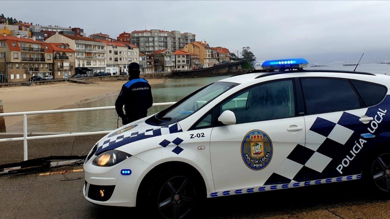 La Policía Local de Poio localizó al infractor en puerto de Raxó