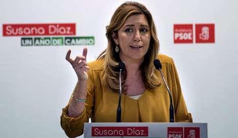 Rajoy contraataca con los ERE de Andalucía.<span lang= es-es >Cierre de filas con Sánchez</span>. En el primer acto juntos desde que Pedro Sánchez lidera el PSOE, Susana Díaz le dijo: «Tienes el apoyo de todos los socialistas andaluces y mi cariño y afecto».