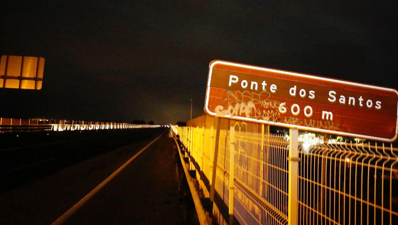 Ponte dos Santos, solo unos minutos después del confinamiento de Asturias