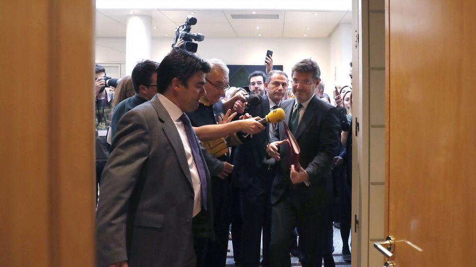 El secretario de Estado de Seguridad niega que conociera la operación Lezo.El consejero de OHL Javier López Madrid, a su salida de la Audiencia Nacional tras declarar ante el juez Eloy Velasco