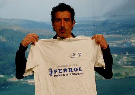 Sergio Pazos, en una gala celebrada en Ferrol.