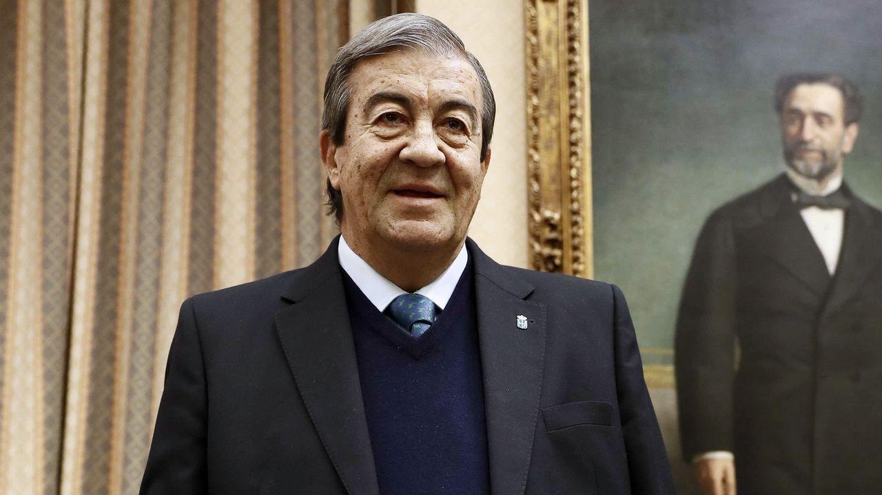 El ex secretario general del PP Francisco Álvarez Cascos, durante su comparecencia ante la Comisión de Investigación sobre la supuesta financiación ilegal del PP.