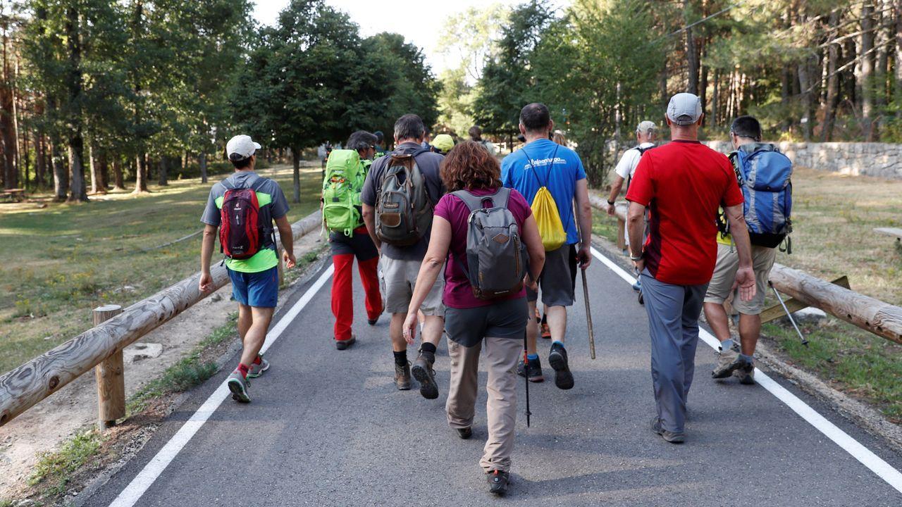 Los voluntarios, al comienzo de la jornada de lunes