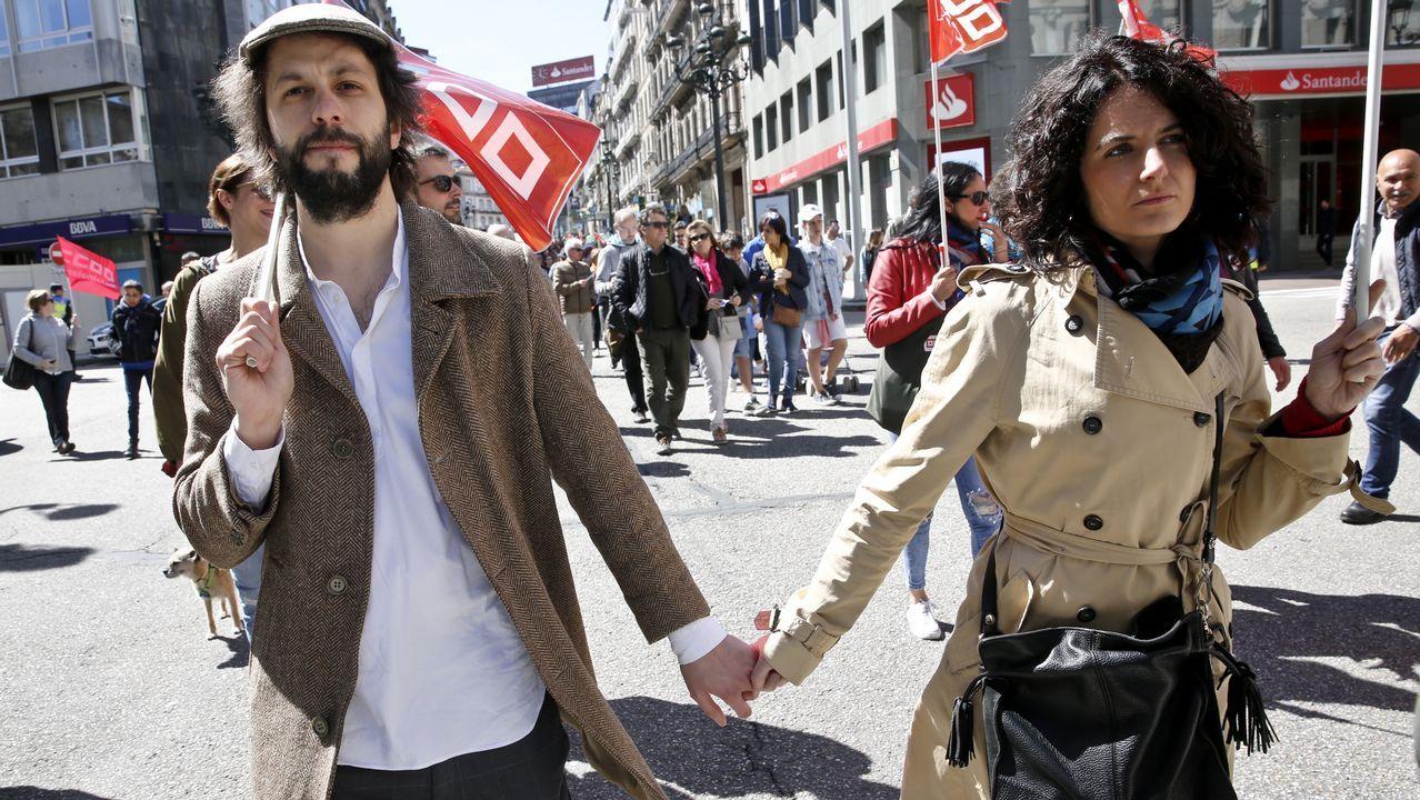 1 de mayo en las calles de A Coruña