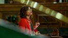 María Jesus Montero, ministra de Hacienda y portavoz del Gobierno, en la tribuna del Congreso