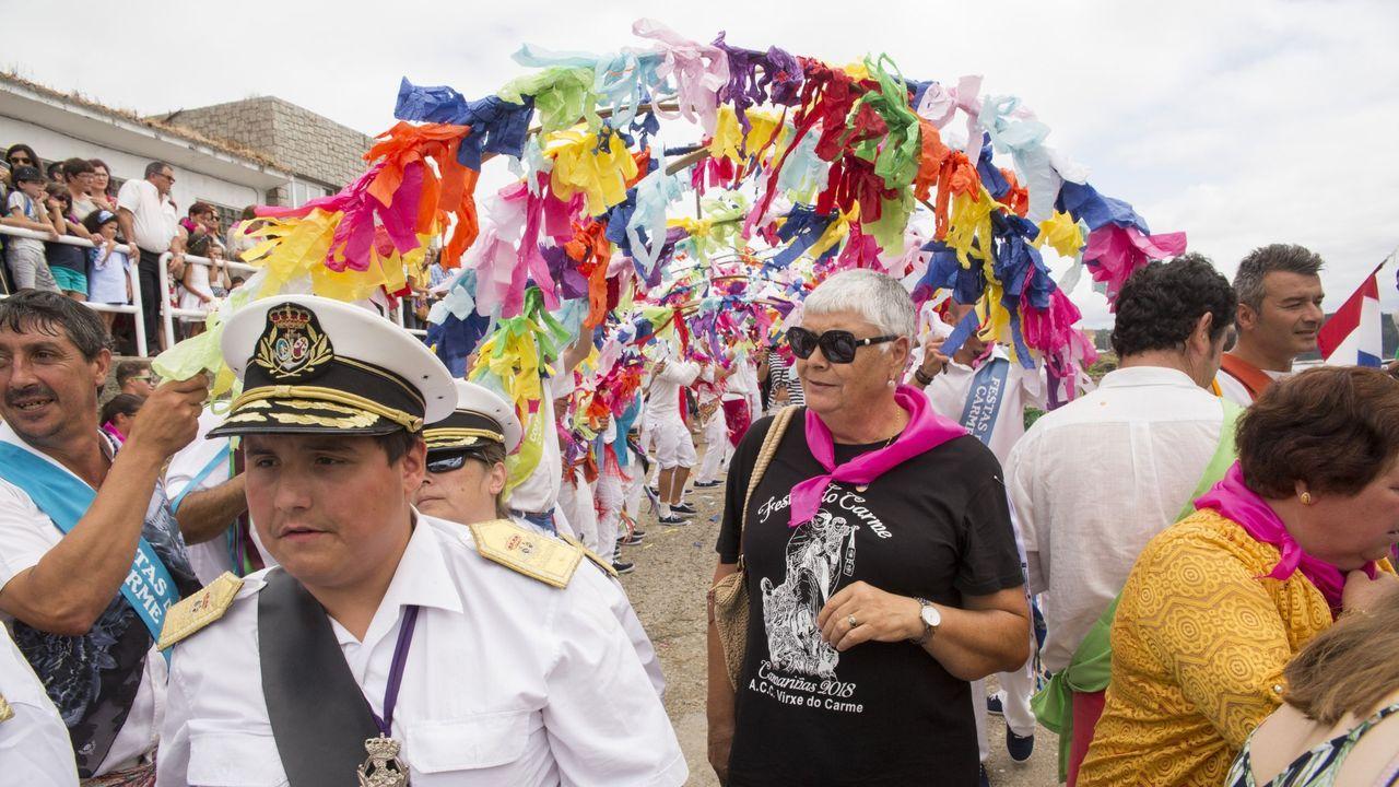 Sede de la RTPA, en Gijón.Fiesta del Carmen de Camariñas