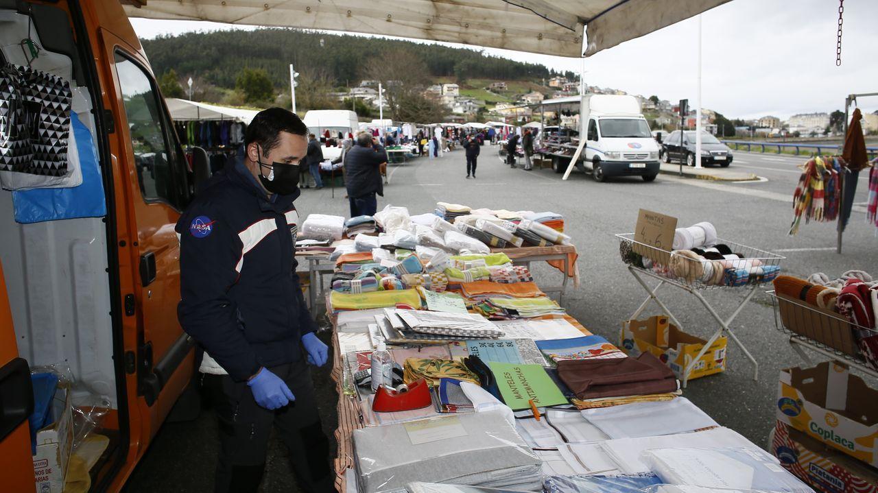 Mercado este domingo en Verxeles, Viveiro