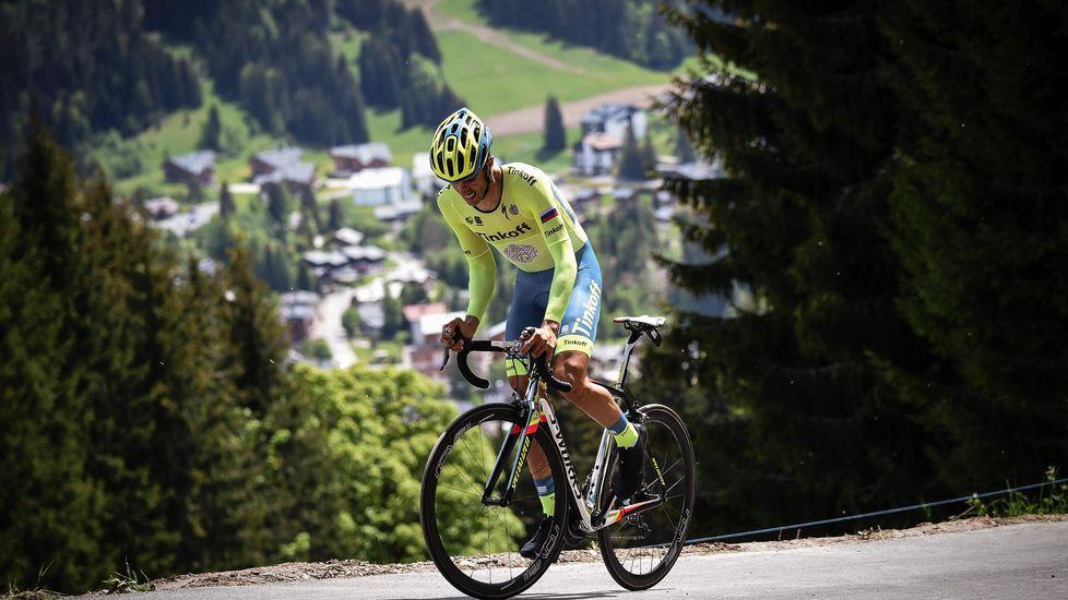 Contador se mostró feliz tras su triunfo en la Dauphiné