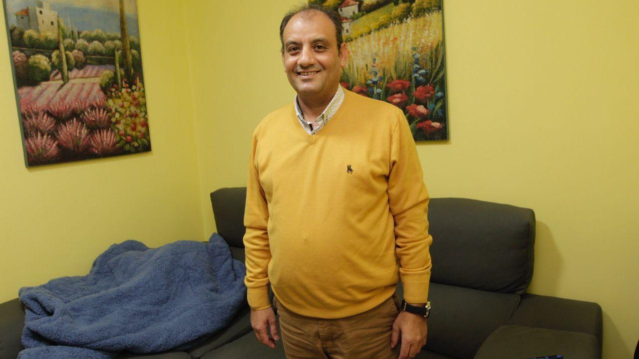 Daniel Aldea, en la noche del miércoles, por fin en su casa, donde espera reponerse físicamente