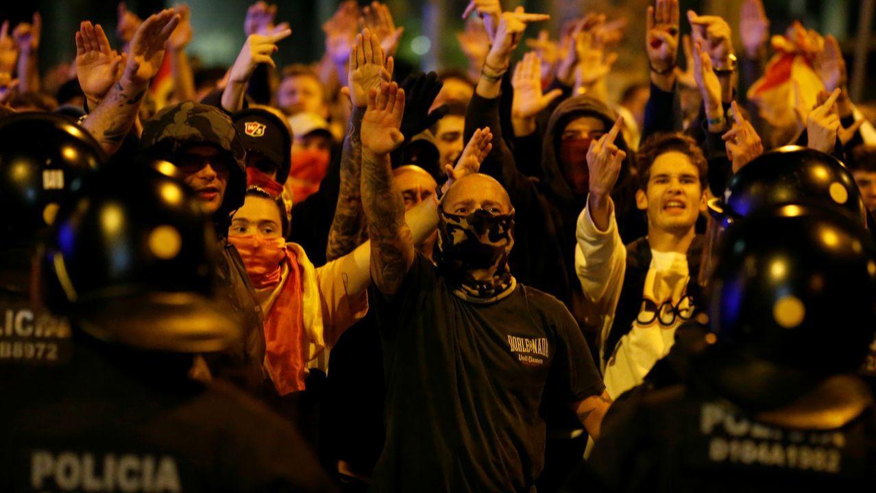 Concentración convocada en Barcelona por grupos de extrema derecha