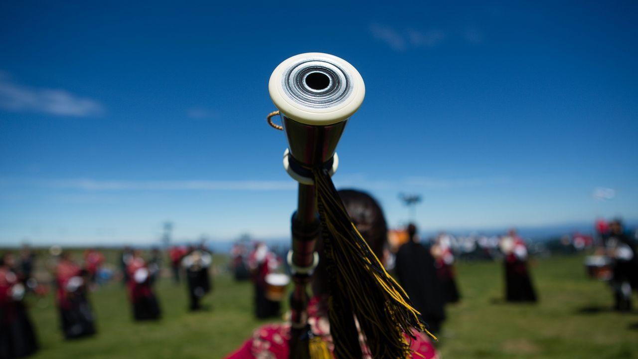 Más de 600 gaiteros asistieron al Certamen Celtibérico.Un puesto de venta de vino en una edición anterior de la feria quiroguesa
