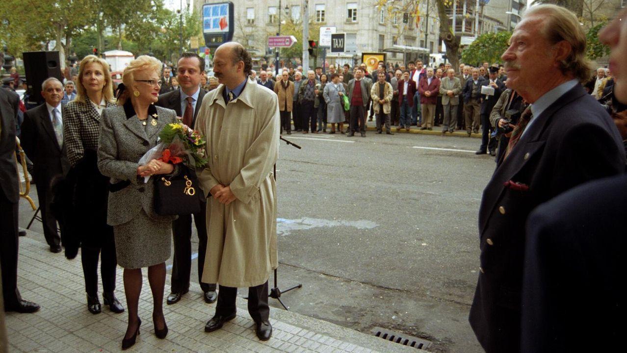 Corina Porro visita las obras de la Ciudad de la Justicia de Vigo.Ciudad Vieja
