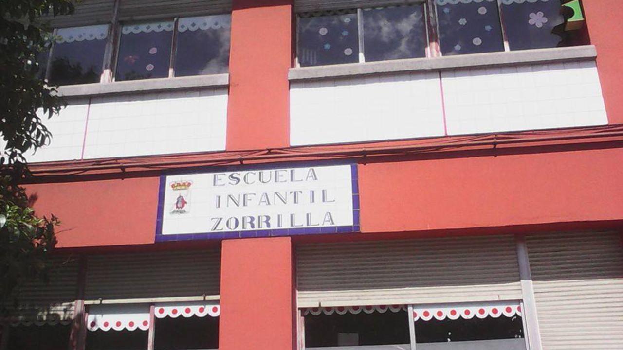 Así pintaron el mural del IES O Couto.Escuela Infantil José Zorrila de Gijón