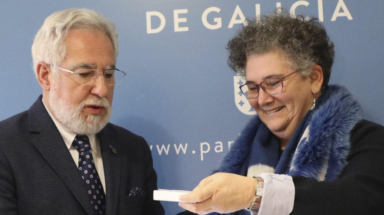 Miguel Santalices junto a Milagros Otero