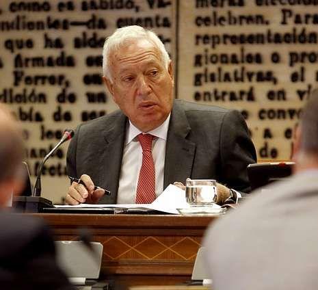 Margallo, ayer en su comparecencia en el Senado.