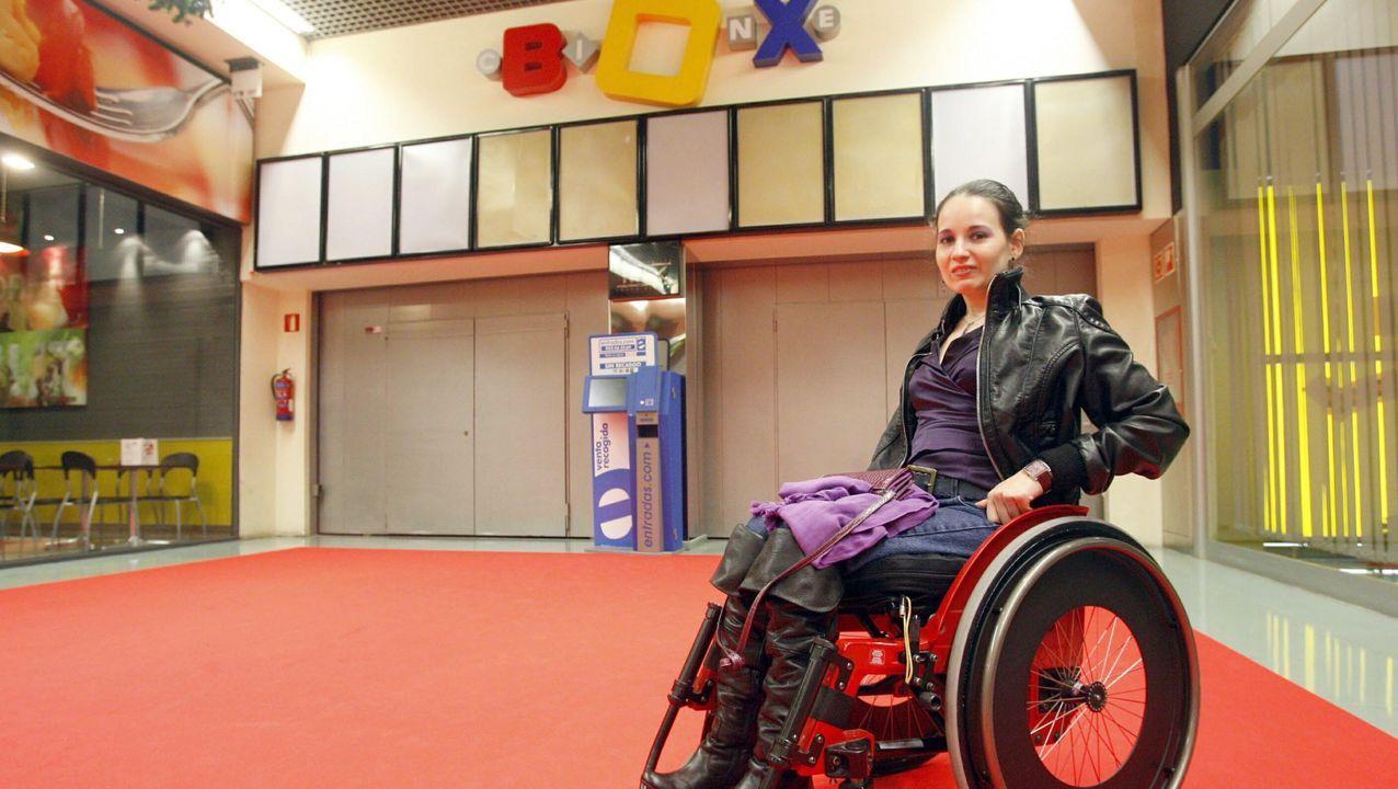 María Cudeiro, en el año 2009, después de que una sentencia obligase a cerrar los cines durante dos días
