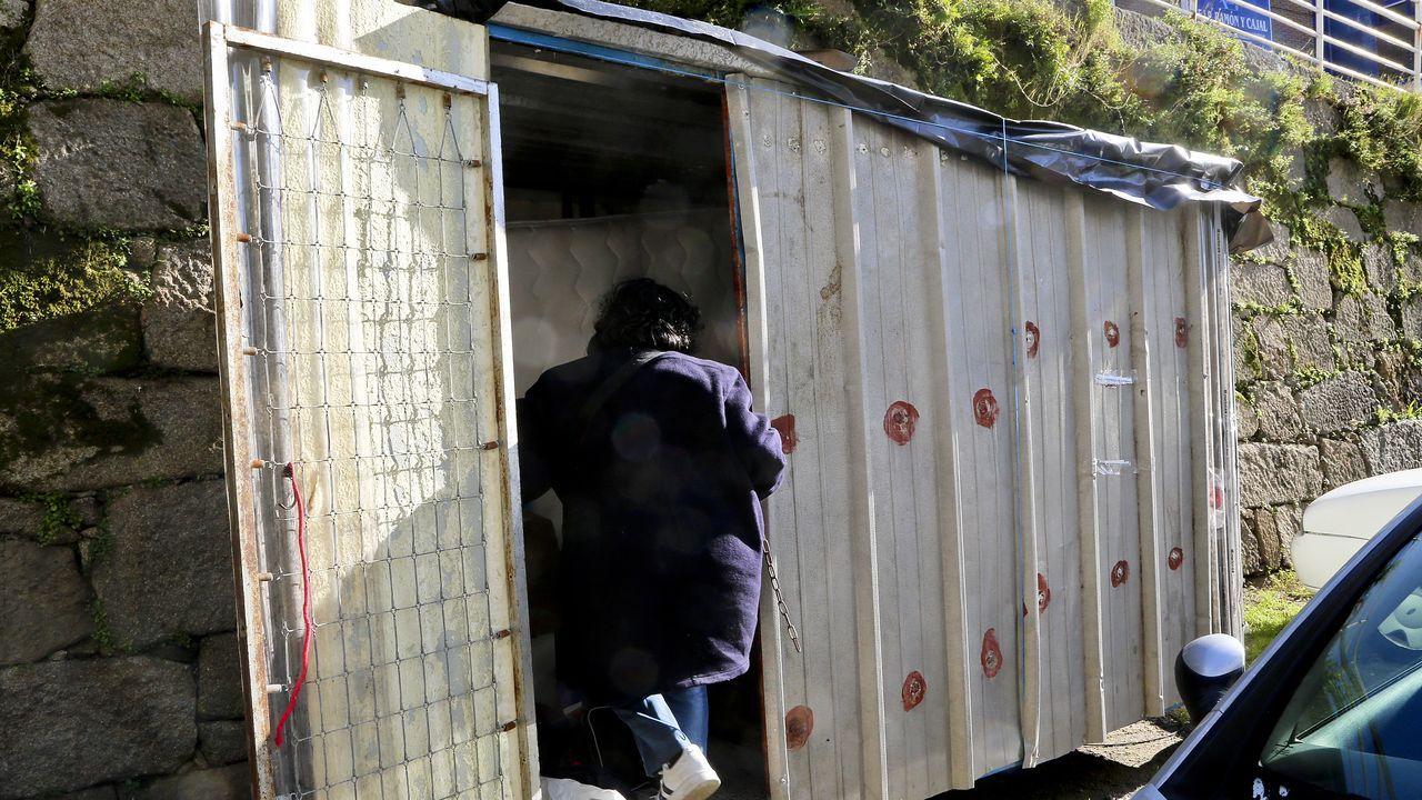 tierra.Caseta tras la gasolinera de Beiramar donde vivía el hombre que apareció muerto