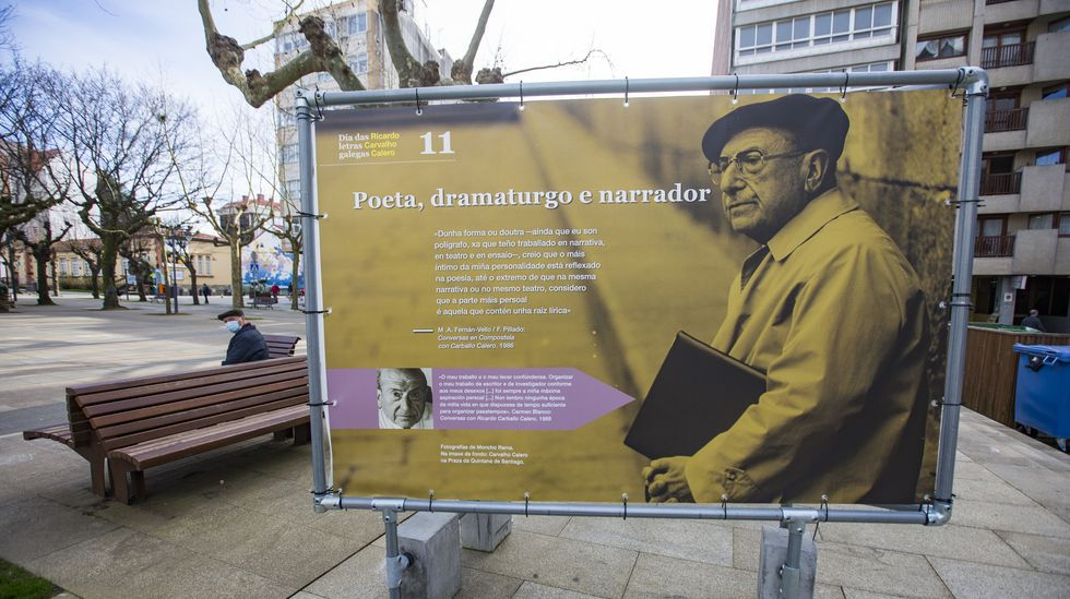 Instalada unha exposición sobre Carvalho Calero en Carballo: as imaxes.Exposición sobre Carvalho Calero en Carballo
