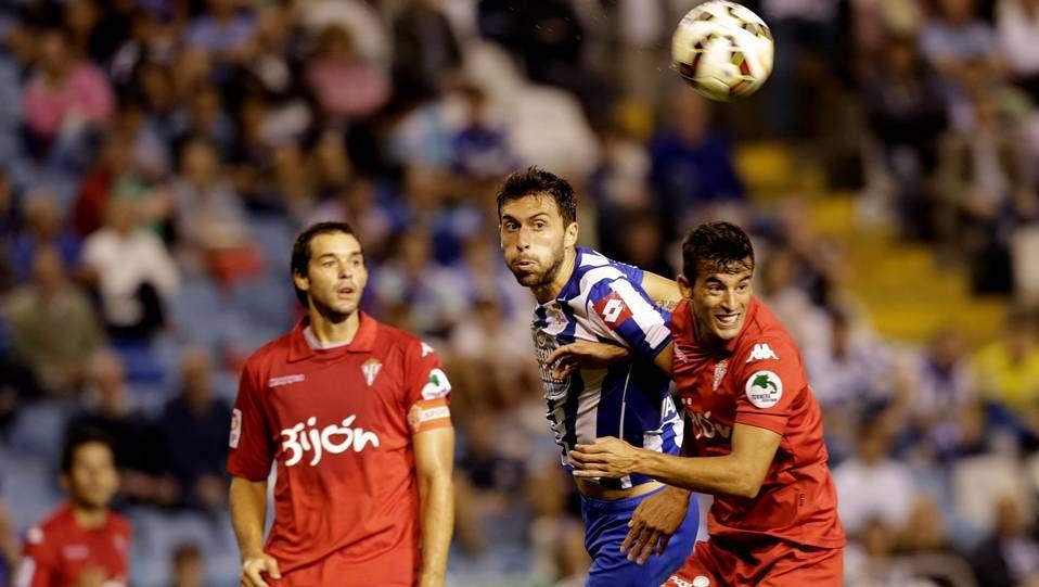 Borja Bastón, el domingo contra el Sporting