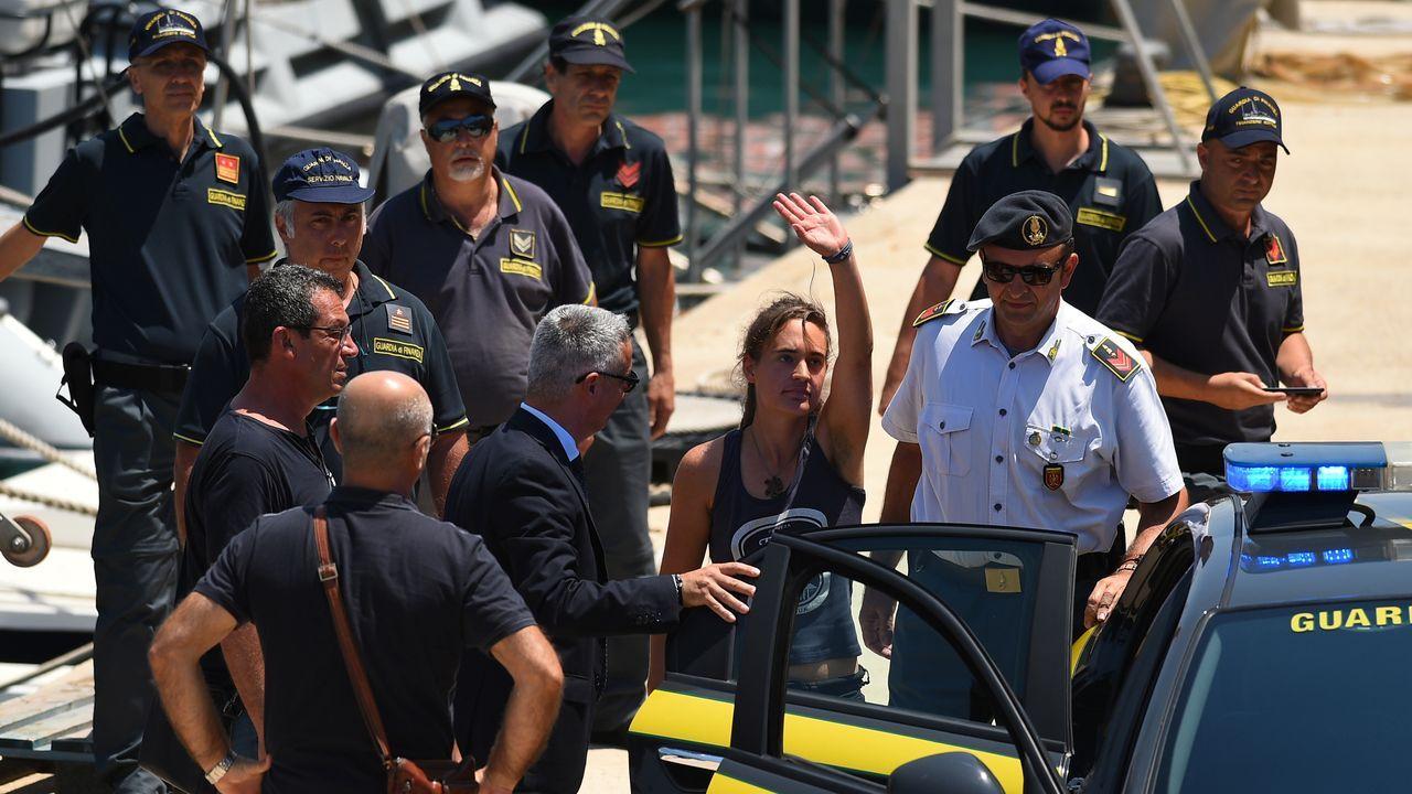 11 de los rescatados por el Open Arms tras su desembarco en Sicilia el lunes