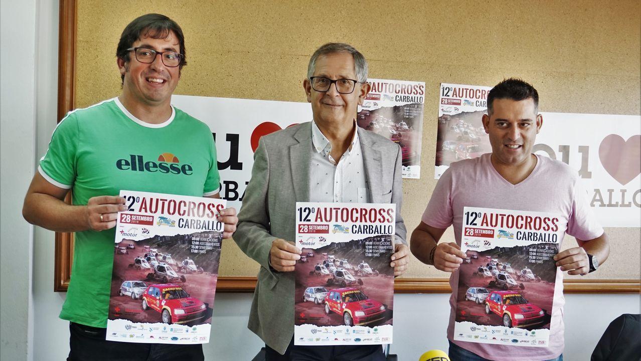 Jesús Santos, Eugenio Pita y Antón Muíños vencen en el autocrós de Bértoa