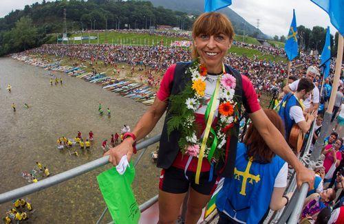 Mara Santos, en el pregón del 82 Descenso Internacional del Sella
