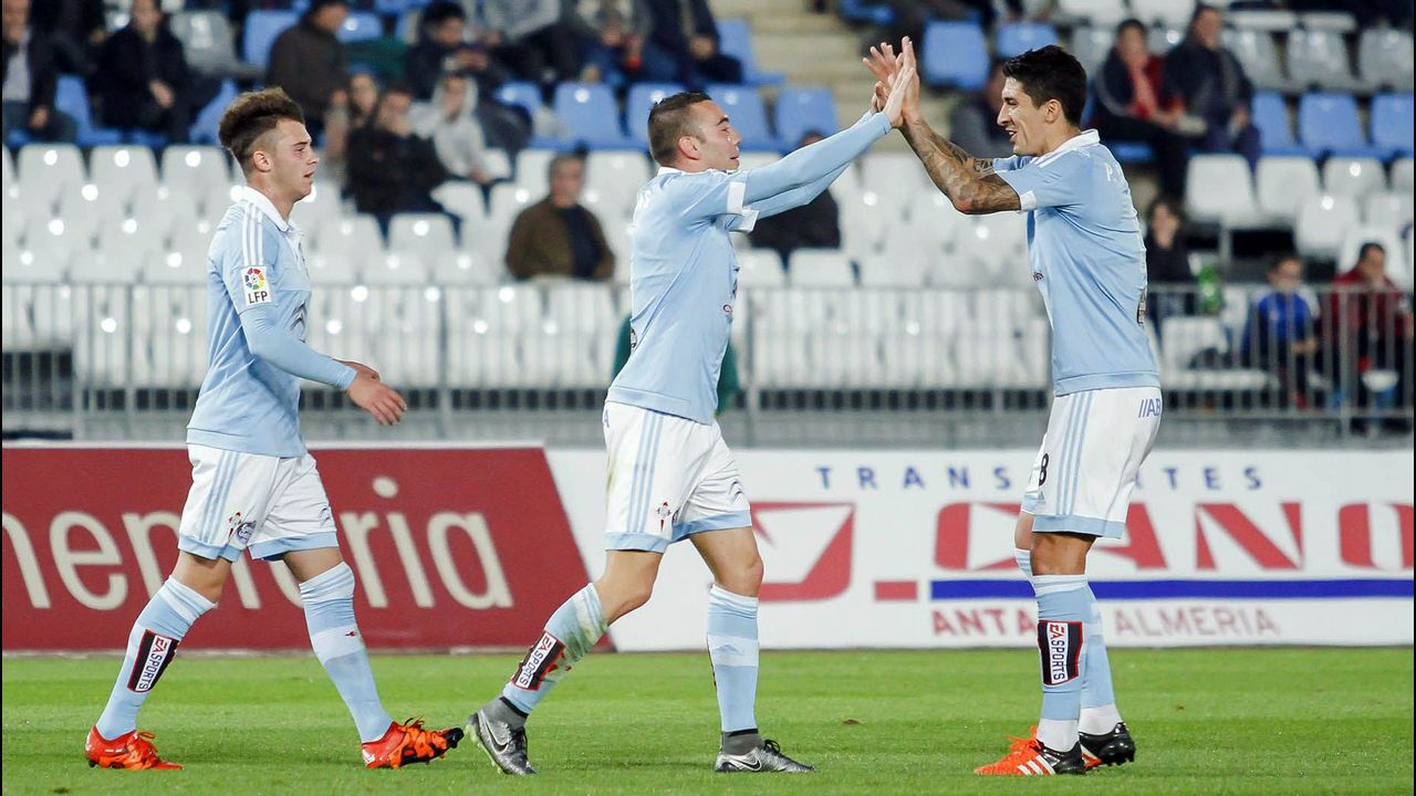 Almería-Celta (1-3) en Copa el 2 de diciembre del 2015