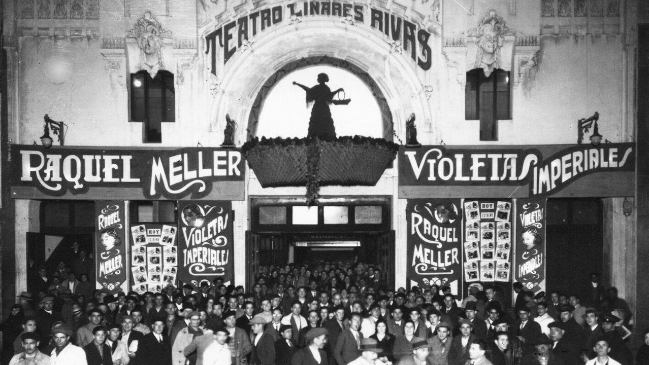 El antiguo Teatro Linares Rivas es una de las joyas perdidas del modernismo coruñés que ya solo podemos ver en fotos como esta