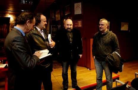 Vilela, Fernán Vello, Rivadulla Corcón e Villar, onte na presentación do libro de López Abente.