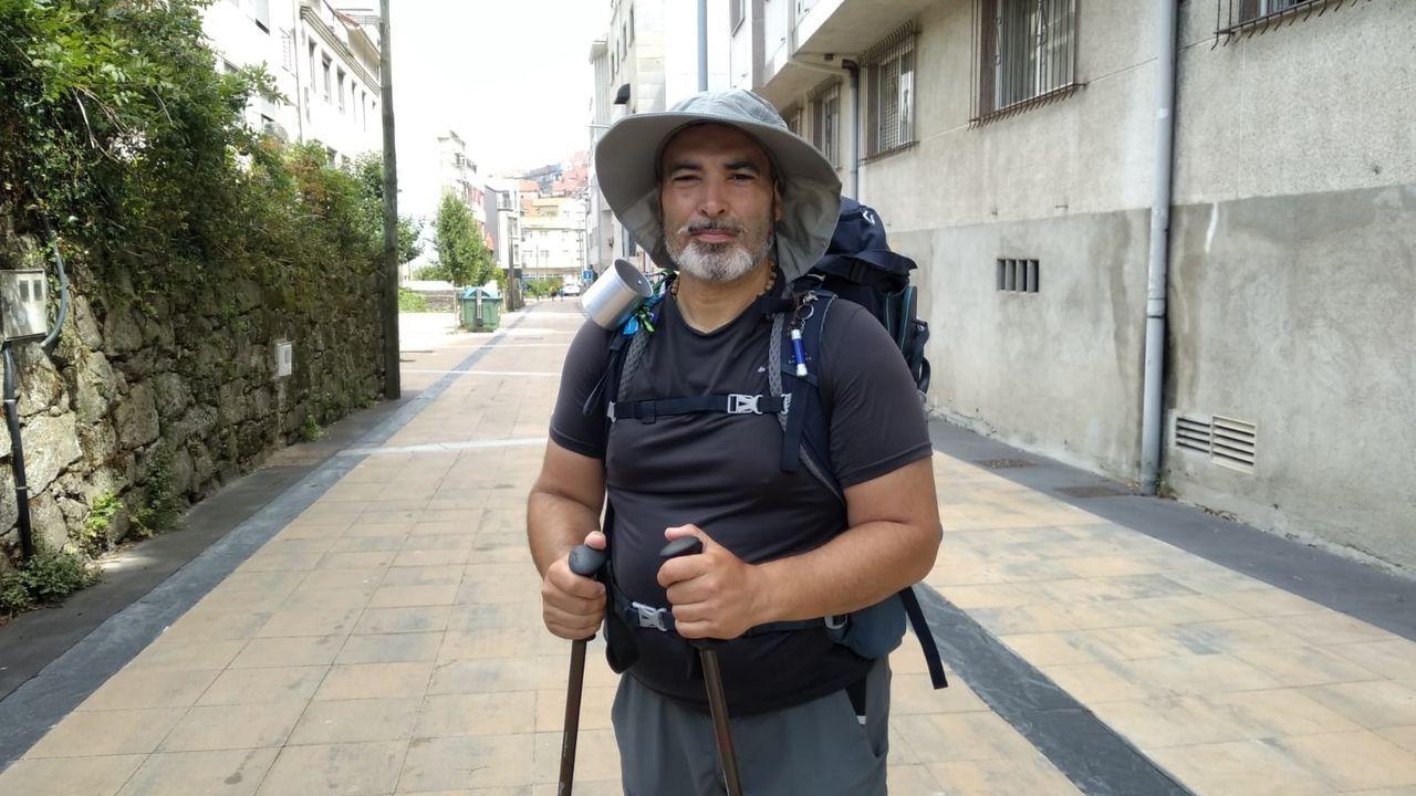 El portugués Xoel decidió peregrinar solo a compostela para un viaje espiritual