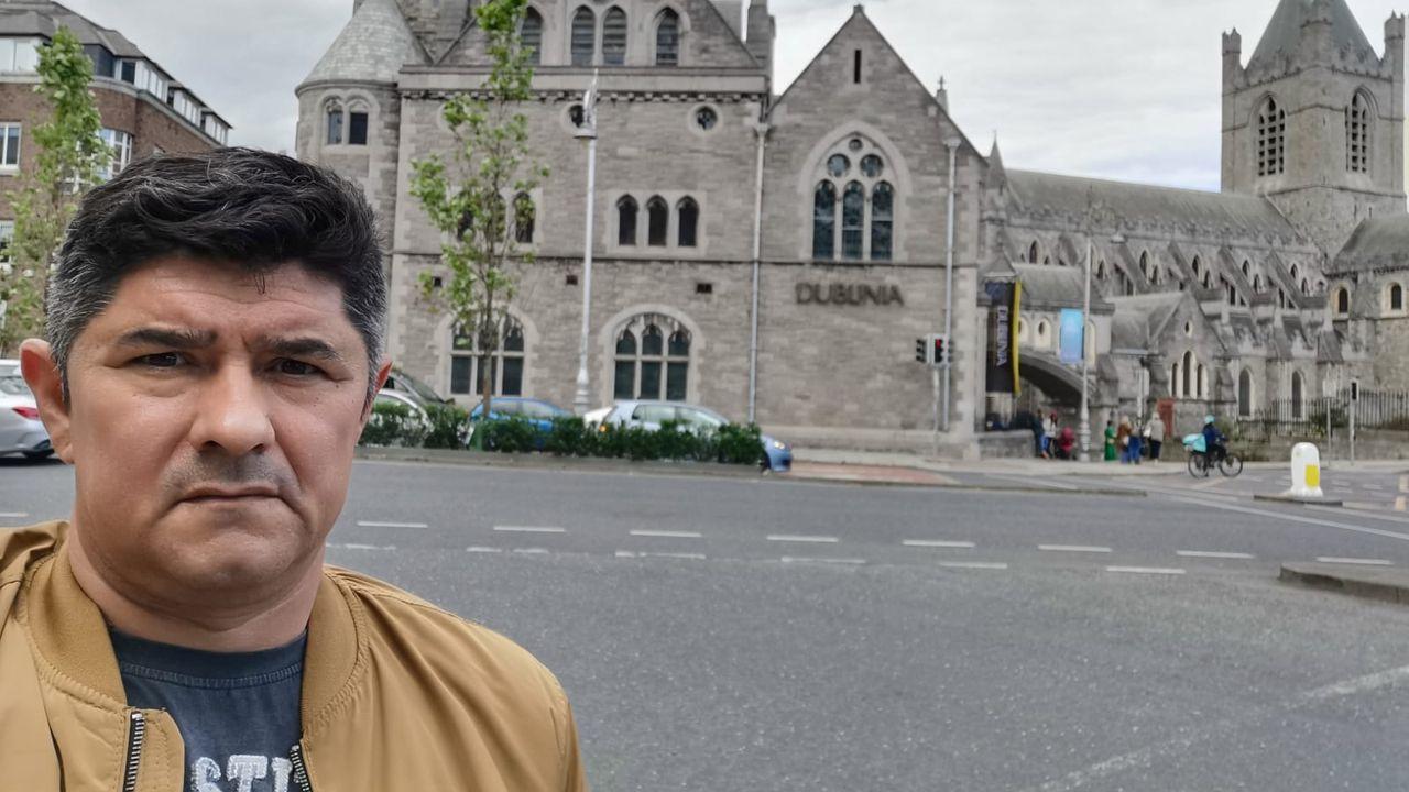 Miguel Ángel Fernández es uno de los cuatro trabajadores que acudieron a Irlanda