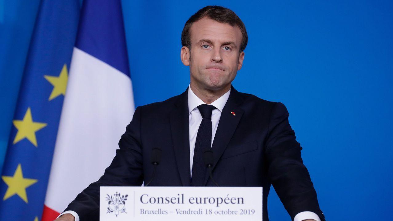 Macron cerró con una rueda de presna su presencia en la cumbre europea