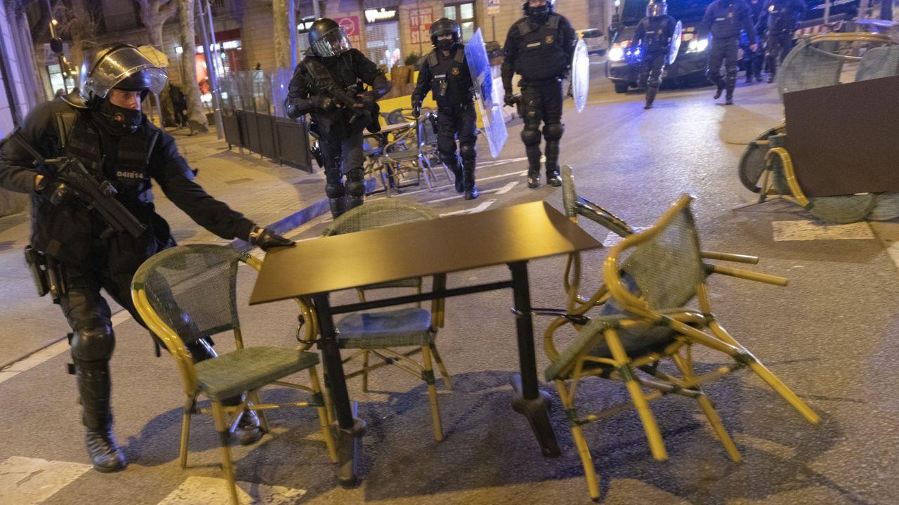 La protesta que generó disturbios en Barcelona fue convocada por Arran, la CUP,  Endavant, el SEPS y los CDR