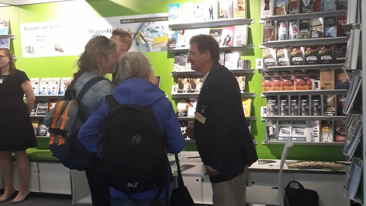 Michael Martin, en la Feria del Libro de Frankfurt