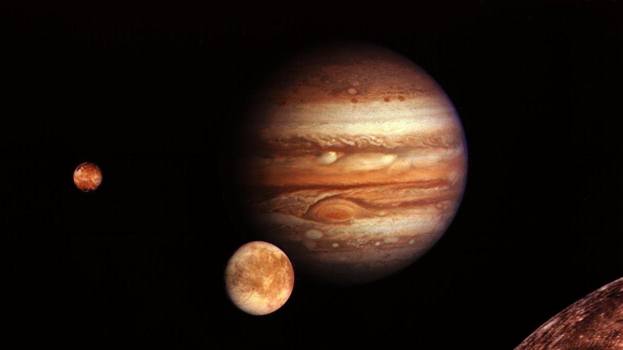 Júpiter, con sus lunas